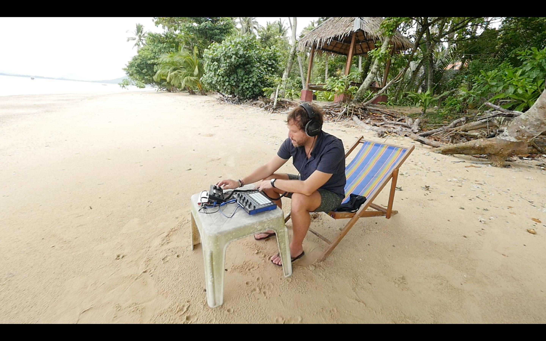 Sebastian Seifert at inventors camp this summer onKoh Lon, off the coast of Thailand.