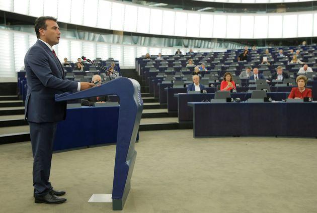 Ομιλία του πρωθυπουργού της πΓΔΜ, Ζόραν Ζάεφ στο Ευρωπαϊκό