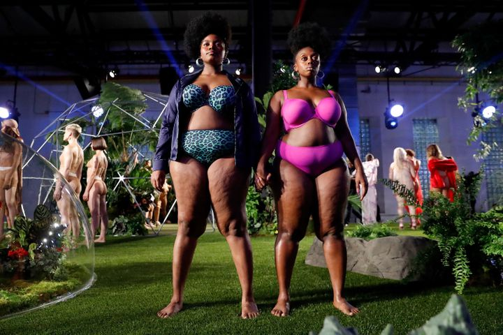Models for the Savage X Fenty fall/winter 2018 show at the Brooklyn Navy Yard on Sept. 12, 2018.
