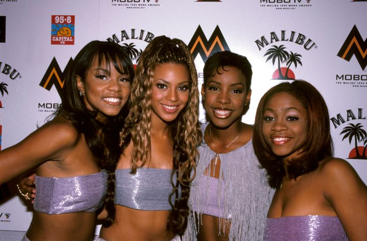 LeToya Luckett, Beyonce Knowles, Kelly Rowland and LaTavia Roberson, pictured together in 2001.