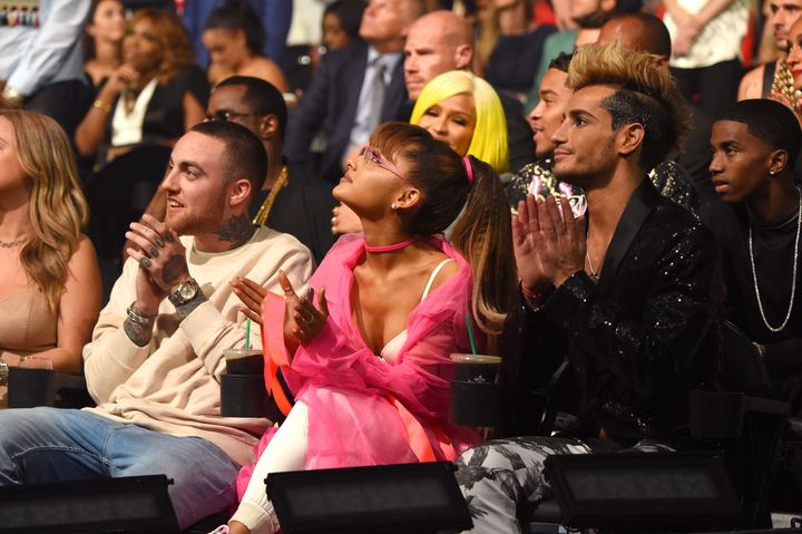 Ariana grandes brother frankie remembers mac miller in mac miller ariana grande and frankie grande attend the 2016 mtv video music awards m4hsunfo