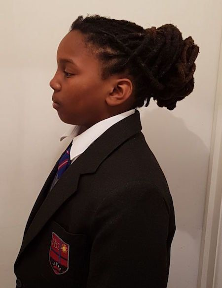 Chikayzea's hairstyle landed him a ban from school.