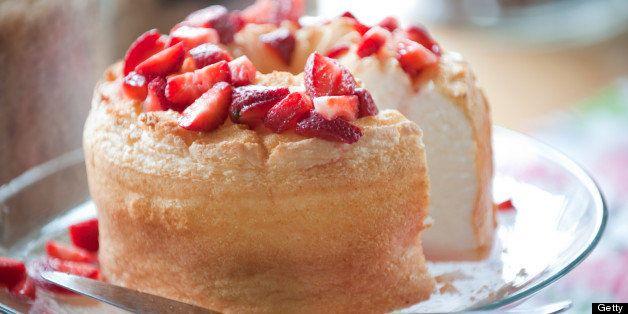 'Strawberry shortcake dessert, selective focus.'