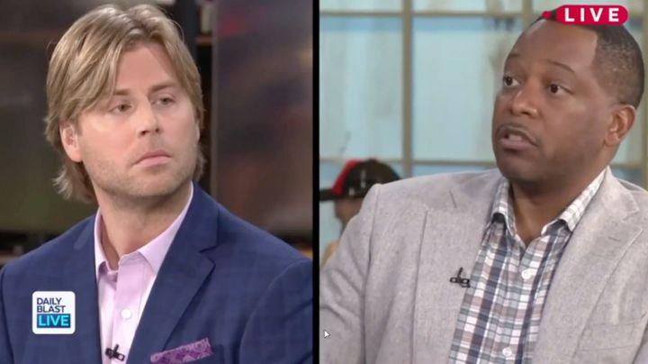 """""""Daily Blast Live"""" panelists Beau Davidson and Al Jackson."""