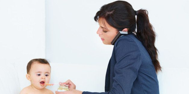 shot of a busy working mom...