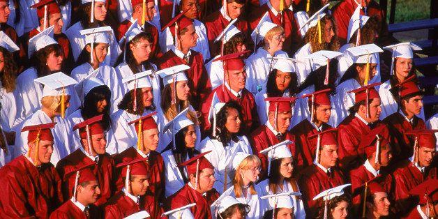 High school graduation class, Rutherford, NJ