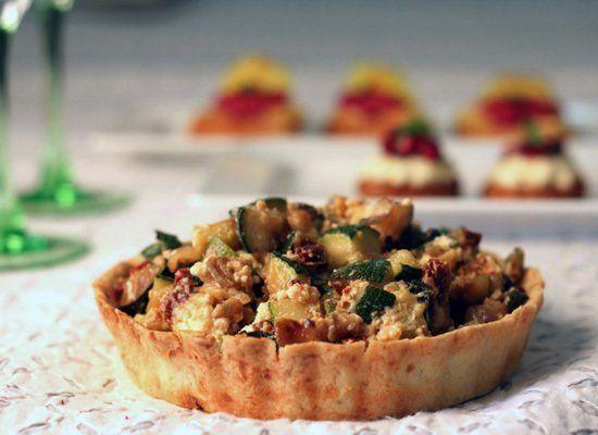 "<strong>Get the <a href=""http://www.archanaskitchen.com/world-recipes/gourmet-favorites/400-roasted-vegetable-pesto-tart"" tar"