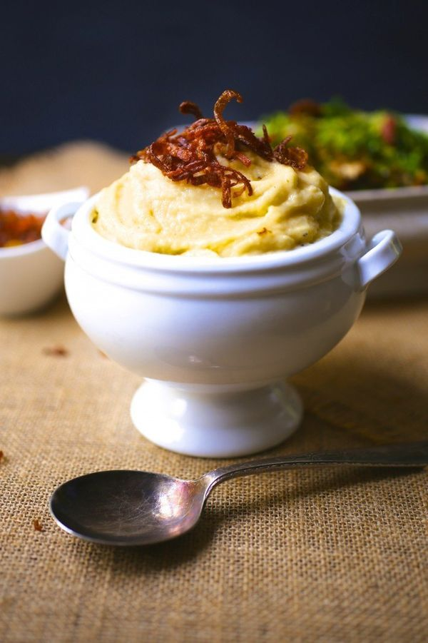 """<strong>Get the <a href=""""http://nerdswithknives.com/whipped-rutabaga-with-crispy-shallots/"""" target=""""_blank"""">Whipped Rutabaga"""