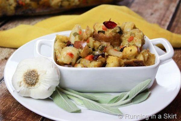 "<strong>Get the <a href=""http://runninginaskirt.com/vegetarian-stuffing/"" target=""_blank""> Vegetarian Stuffing recipe</a> fro"