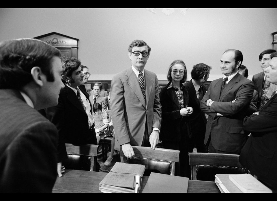 """<em>CORRECTION: Title previously incorrectly read """"impeachment trial."""" But President Nixon was never tried and resigned prior"""