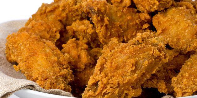 plate of crispy fried chicken...