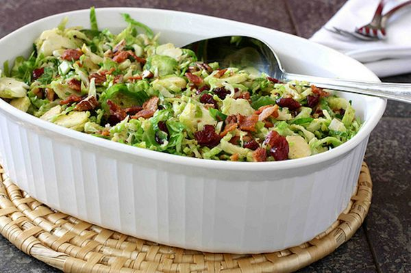 "<strong>Get the <a href=""http://www.cookincanuck.com/2010/11/shredded-brussels-sprouts-with-bacon/"" target=""_blank"">Shredded"