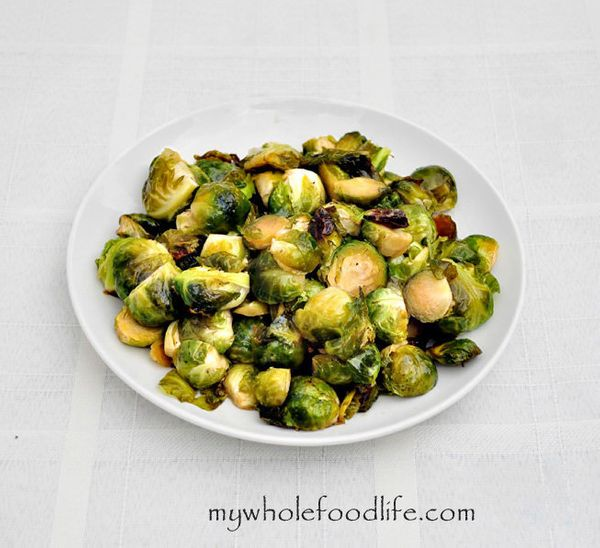 "<strong>Get the <a href=""http://mywholefoodlife.com/2013/12/03/maple-glazed-brussel-sprouts/"" target=""_blank"">Maple Glazed Br"