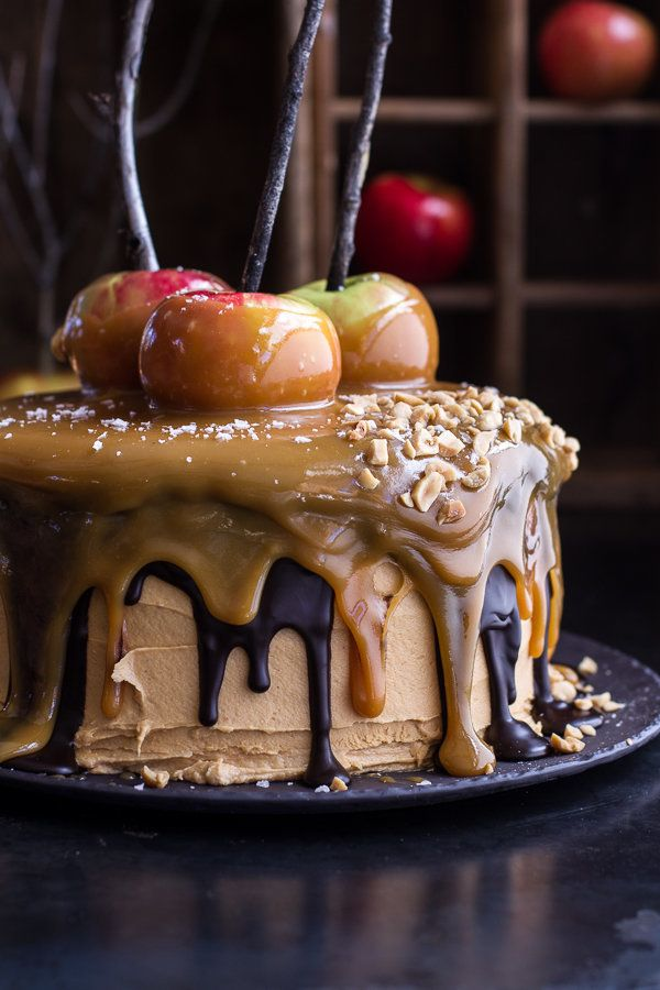 """<strong>Get the <a href=""""http://www.halfbakedharvest.com/salted-caramel-apple-snickers-cake/"""" target=""""_blank"""">Salted Caramel"""