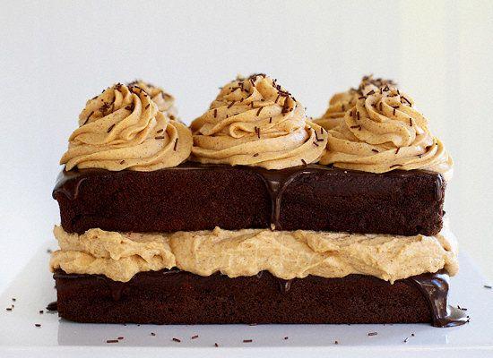 "<strong>Get the <a href=""http://iambaker.net/chocolate-pumpkin-cake/"">Chocolate Pumpkin Cake recipe</a> from I Am Baker</stro"