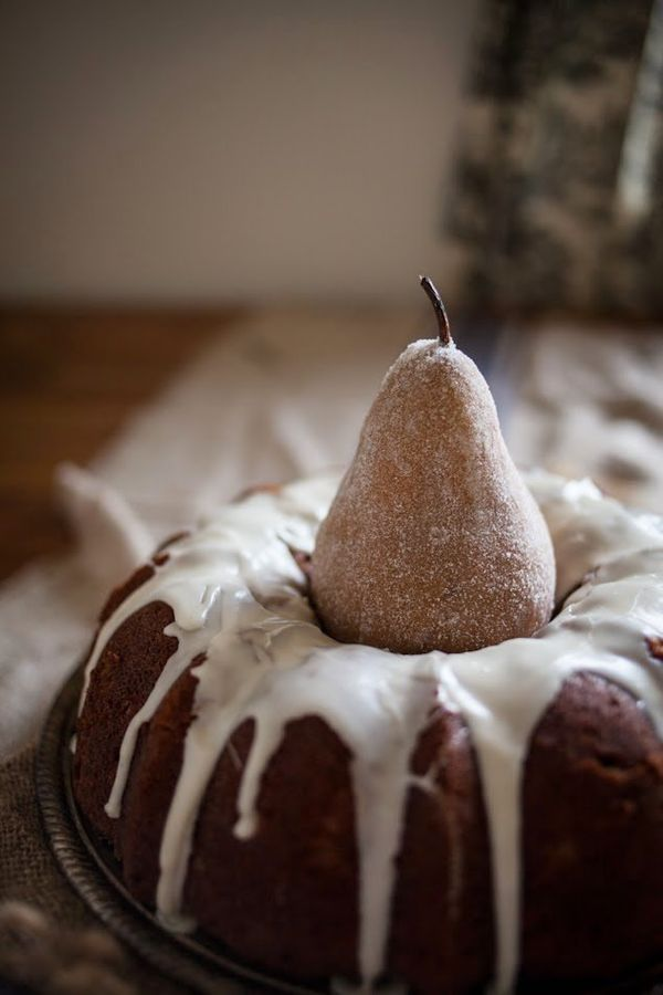 """<strong>Get the <a href=""""http://www.adventures-in-cooking.com/2013/12/spiced-pear-bundt-cake-with-brandy.html"""" target=""""_blank"""