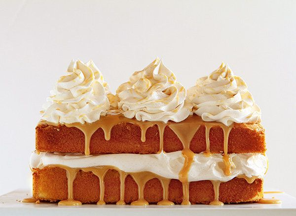 """<strong>Get the <a href=""""http://iambaker.net/caramel-cake-with-apple-cider-whipped-cream/"""" target=""""_blank"""">Caramel Cake With"""