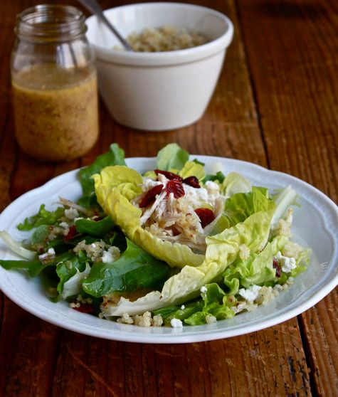 """<strong>Get the <a href=""""http://www.theclevercarrot.com/2012/11/leftover-turkey-salad-2-ways/"""" target=""""_blank"""">Roasted Turkey"""