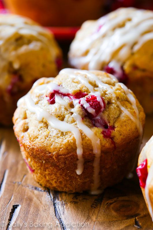 "<strong>Get the <a href=""http://sallysbakingaddiction.com/2014/11/06/cranberry-orange-muffins/"" target=""_blank"">Cranberry Ora"