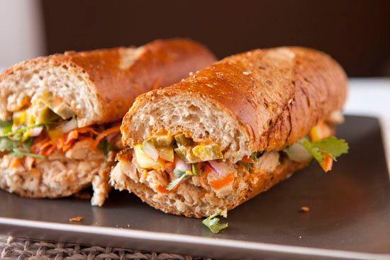 "<strong>Get the <a href=""http://www.macheesmo.com/2013/11/turkey-banh-mi/"" target=""_blank"">Turkey Banh Mi recipe</a> from Mac"