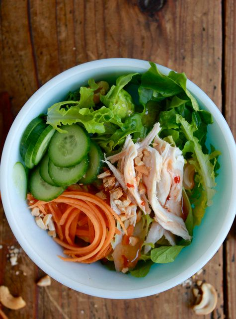"""<strong>Get the <a href=""""http://www.theclevercarrot.com/2012/11/leftover-turkey-salad-2-ways/"""" target=""""_blank"""">Asian Turkey S"""