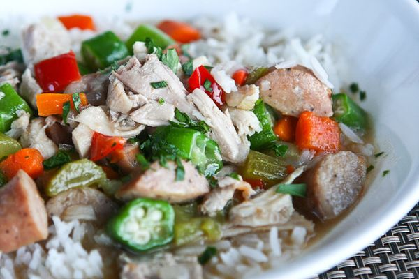 """<strong>Get the <a href=""""http://steamykitchen.com/19344-turkey-gumbo-leftover-thanksgiving-turkey-recipe.html"""" target=""""_blank"""