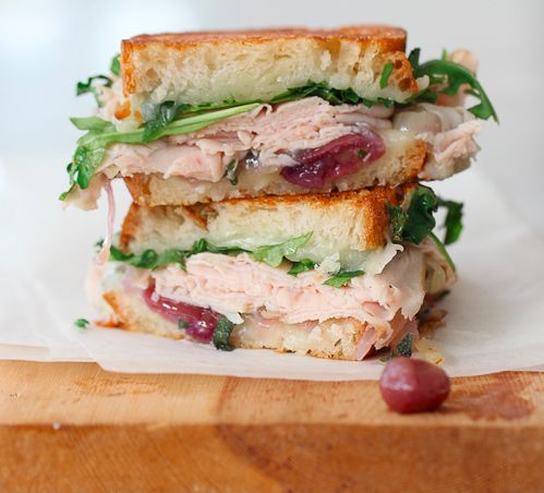 """<strong>Get the <a href=""""http://www.foodiecrush.com/2012/04/craving-turkey-and-white-cheddar-with-caramelized-onion-grape-gri"""