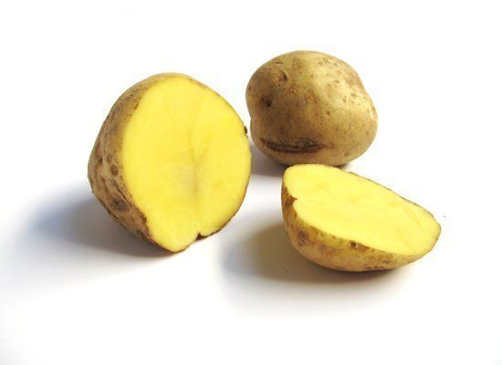 Katahdin potatoes are your French fry potatoes. They have smooth skin with yellowish flesh, and a classic potato flavor. They