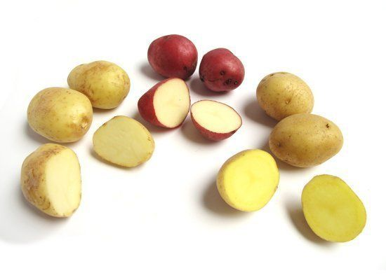 New potatoes are defined as any type of potato that's harvested young, before its sugars have fully converted to starch. You