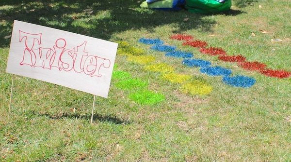 """Ain't no party<a href=""""http://thechicsite.com/2013/05/23/outdoor-twister/"""" target=""""_blank""""> like a Twister party</a>."""