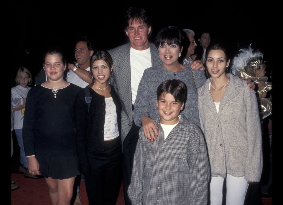 With Khloe, Kourtney, Bruce Jenner, Kris and Robert.