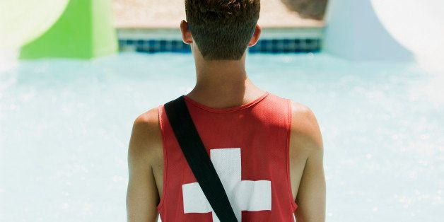 lifeguard at a water park