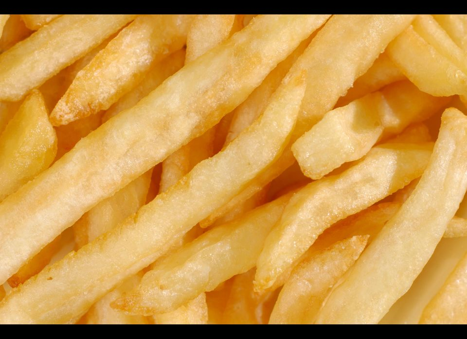 Trans fat is made by adding hydrogen to vegetable oil.  Many restaurant chains have stopped frying food in hydrogenated oil