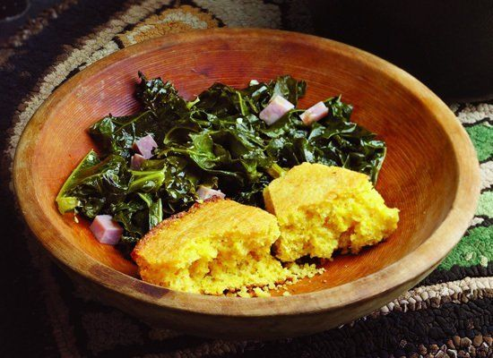 No one does kale better than Southerners. This recipe uses country ham as the flavor base for sauteed kale. You could also su