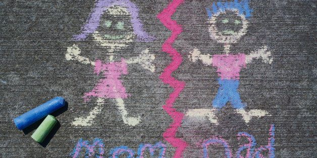 Chalk Drawing of Mom and Dad