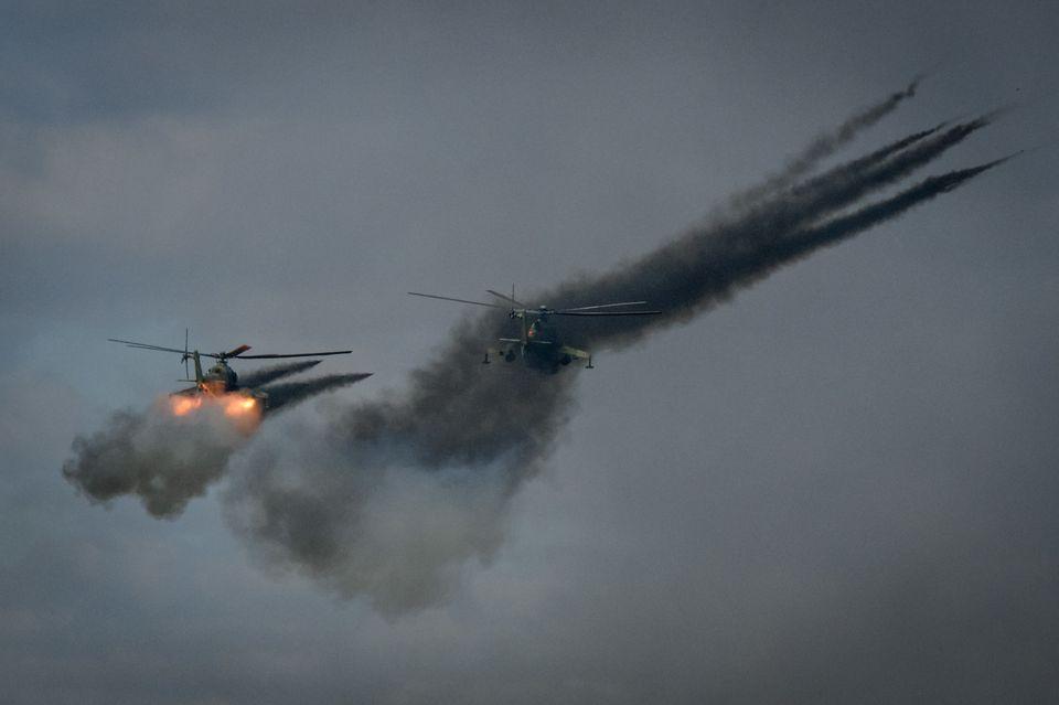 [화보] 푸틴이 '냉전 이후 최대규모' 러시아 군사훈련을