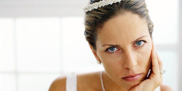 portrait of a bride waiting