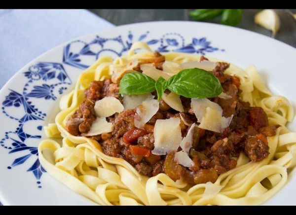 A classic Italian comfort food for any night of the week. Bolognese sauce can be as simple or as complex as you like, dependi