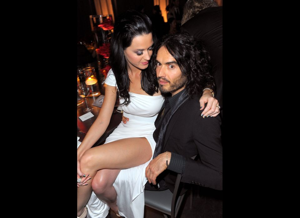 Singer Katy Perry and comedian Russell Brand attend The Art of Elysium's 3rd Annual Black Tie Charity Gala 'Heaven' on Januar