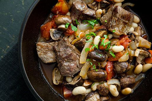"""<strong>Get the <a href=""""http://www.simplyrecipes.com/recipes/quick_beef_stew_with_mushrooms_and_white_beans/"""" target=""""_blank"""