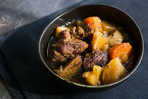 """<strong>Get the <a href=""""http://www.simplyrecipes.com/recipes/slow_cooker_guinness_stew/"""" target=""""_blank"""">Slow Cooker Guinnes"""