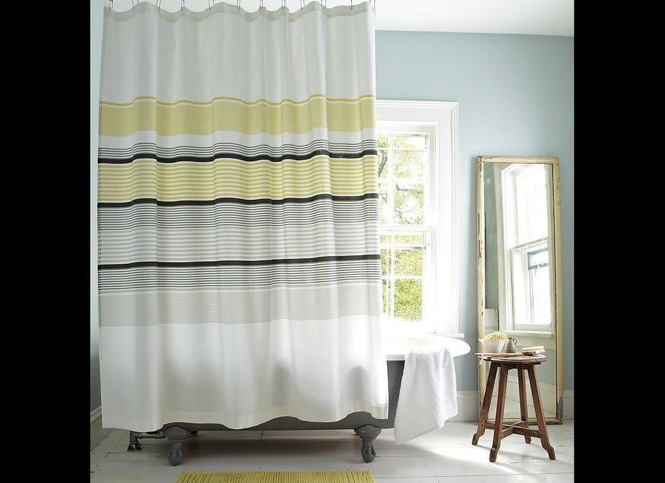 "Gallery Stripe Shower Curtain, $31.00 marked down from $39.00, <a href=""http://www.westelm.com/products/gallery-stripe-shower"