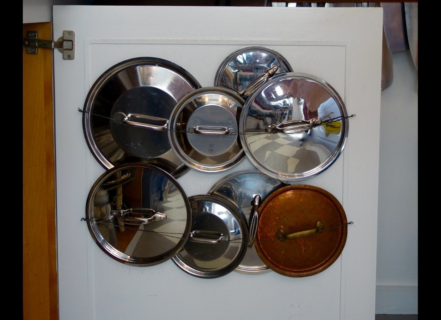 Simple Do It Yourself Storage For Pan Lids