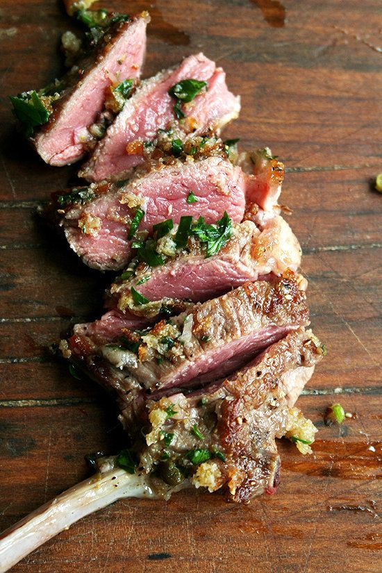 "<strong>Get the <a href=""http://www.alexandracooks.com/2013/03/19/pan-seared-lamb-chops-with-toasted-bread-crumb-salsa/"" targ"