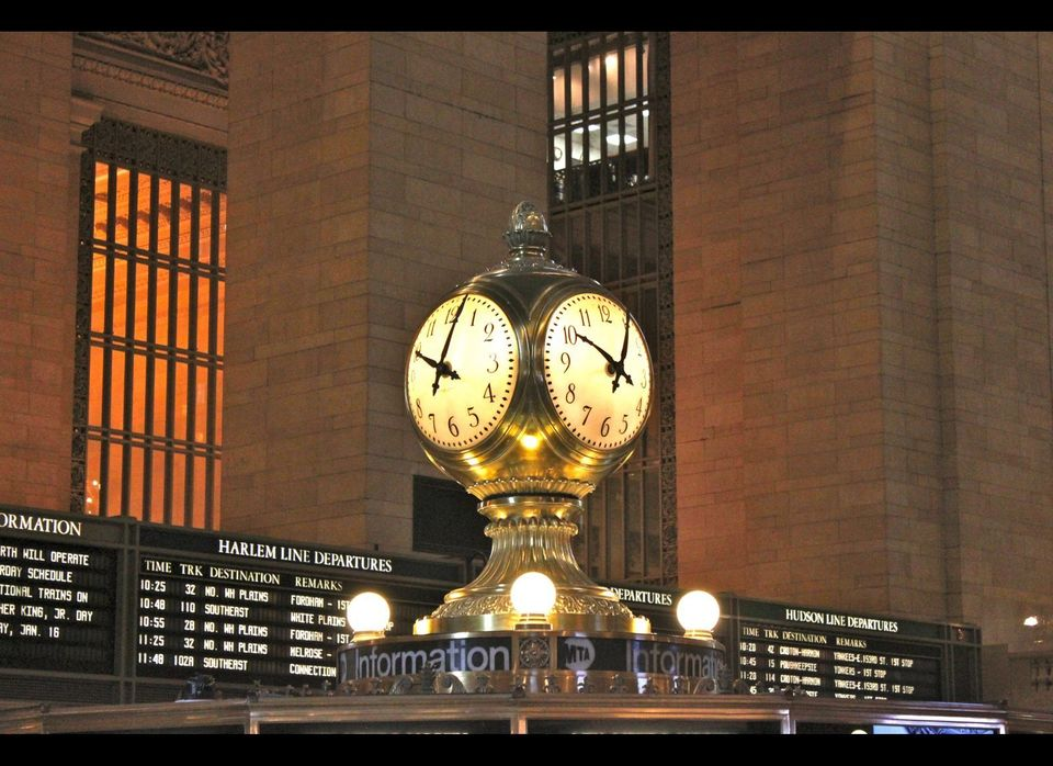 In the middle of the main concourse, the famed opal clock above the information booth is valued at as much as $20 million.