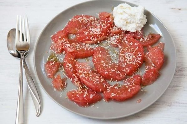 """<strong>Get the <a href=""""http://food52.com/recipes/25617-grapefruit-with-vanilla-honey-and-coconut"""" target=""""_blank"""">Grapefrui"""