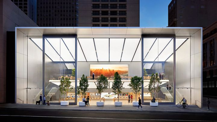 애플 스토어 2.0이 시작된 Apple Union Square.