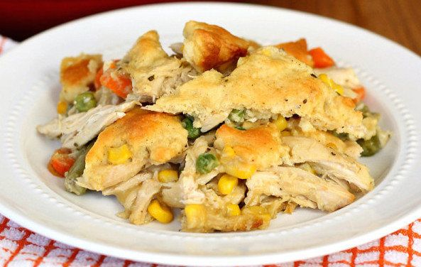 This quick chicken pot pie never goes out of style. It's your formula for an easy dinner when you've got leftover chicken or