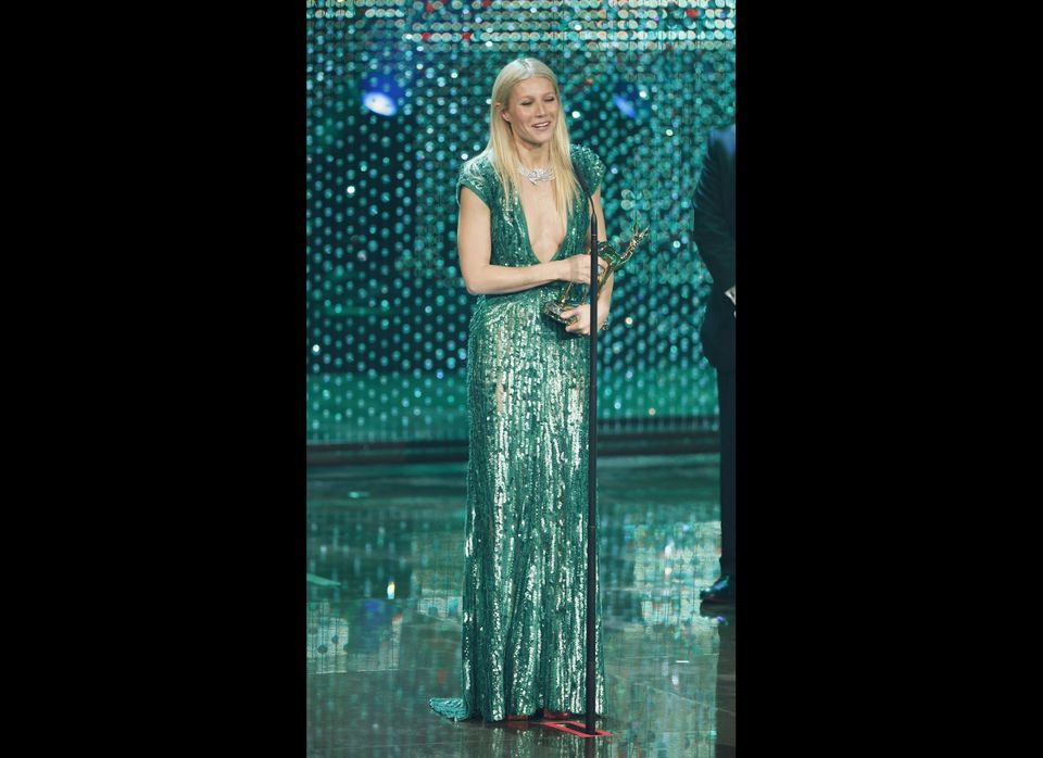 Gwyneth Paltrow holds her award during the Bambi Award 2011 show at the Rhein-Main-Hallen on November 10, 2011 in Wiesbaden,