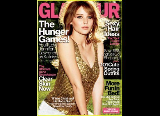 "The Hunger Games' star Jennifer Lawrence graces the cover of <em><a href=""http://www.glamour.com/entertainment/blogs/obsessed"